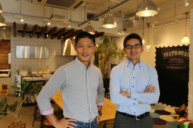 和久環組の取締役に就任した中田寿氏(右)と同社代表取締役の鎌田友和氏(左)