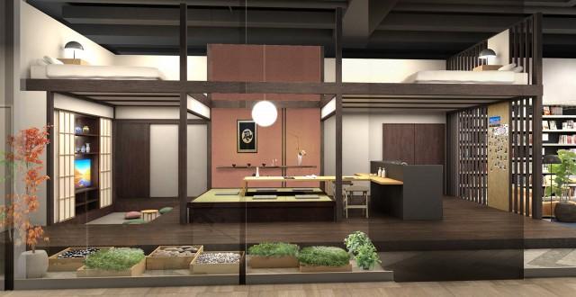 パナソニックセンター大阪の住空間展示「さあ、民泊リフォーム!」