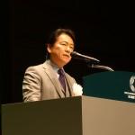 木耐協が地域の防災リーダーになることを祈誓する小野秀男理事長