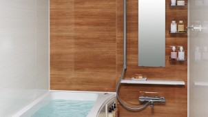 狭小浴室でも足が伸ばせるマンションリフォーム用  LIXIL