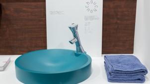 花形ヘッドの水栓金具を開発、個性派洗面ボウルと呼応するデザイン