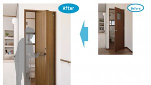 YKKAP、かんたん施工のリフォーム向け折戸を発売