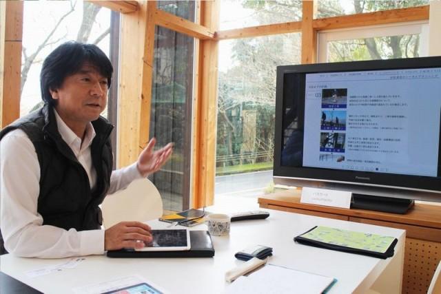 「あえてホームぺージを見ながらでなくタブレット端末のデジタルカタログを選択するのは、どうすれば顧客にもっと伝わるかを常に考えているからだ」と濵松和夫社長