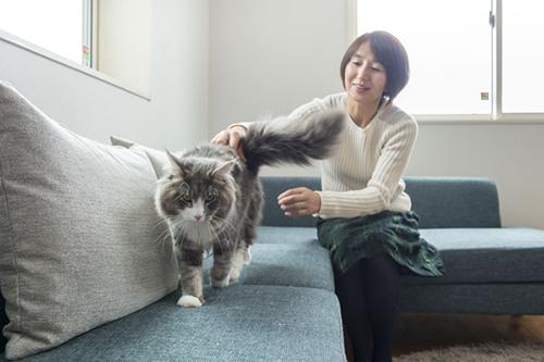 アドバイザーを務めたエッセイストの石黒由紀子氏と猫