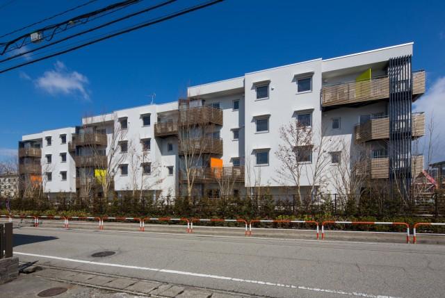 社宅をリノベーションした複合型賃貸集合住宅パッシブタウン第3期街区J棟
