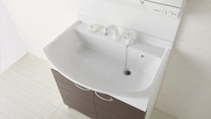 永大産業、普及グレード洗面台に大容量人大ボウルを採用