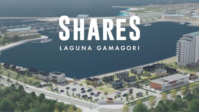 「SHARESラグーナ蒲郡」全景CG。目の前が海という最高のロケーション