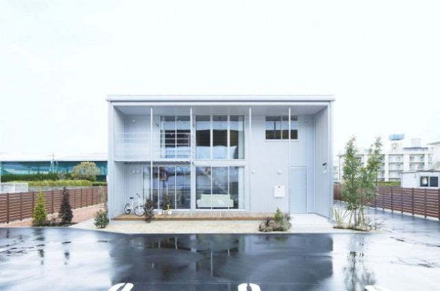 広島西店「木の家」モデルハウス外観