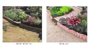 まくだけで雑草・照り返しを抑制、シラス原料の防草土