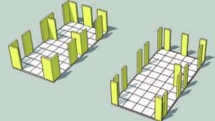 幅455mm壁倍率10倍の耐力壁使った新工法