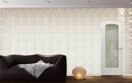 ハーフオーバルドアの施工イメージ(白色塗装)