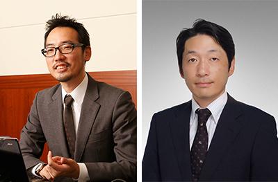 (左)今泉太爾氏 (右)晝場貴之氏