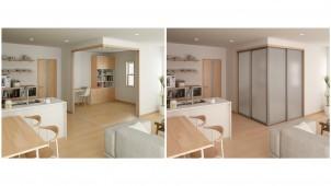 大建工業、容易に個室空間がつくれるL型コーナー間仕切りを発売
