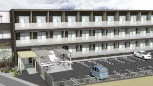 ライフデザイン・カバヤ、独自CLT工法による大型集合住宅に着工