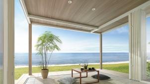 LIXIL、ガーデンルームに軒下空間楽しむ新タイプ