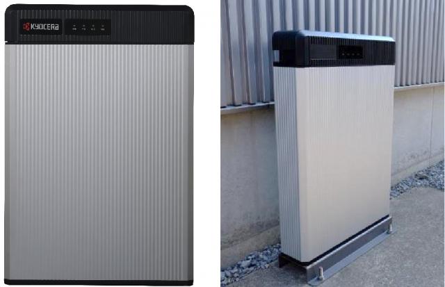 6.5kWh蓄電池ユニットと屋外への設置イメージ