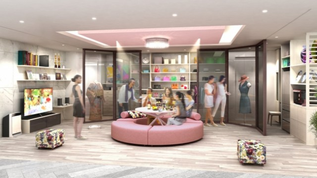 パナソニックセンター大阪の住空間展示「好きなものに囲まれる宝石箱リビング」(イメージ)