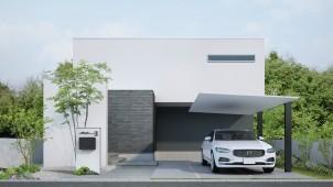 LIXILが「柱+アルミ屋根」の超シンプルなカーポート開発