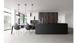 キッチンハウス、ワークトップ・扉に個性的な新素材
