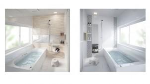 タカラ、アクリル人大浴槽を標準装備した高コスパな耐震システムバス