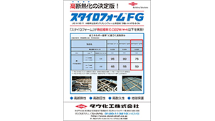 高断熱化の決定版、A種押出法ポリスチレンフォーム保温板「スタイロフォームFG」