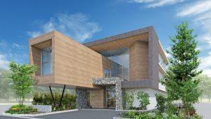 ライフデザイン・カバヤ、CLT鉄骨ハイブリッド構法の自社ビルを着工