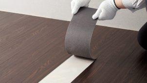 セメダイン、リフォーム時に剥がしやすいビニル床用接着材
