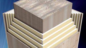 夢の木質耐火部材「3時間耐火」取得で15階建て以上建築に採用可能