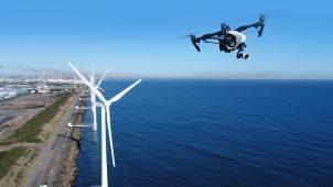 ドローンを使った風況計測を開始 将来的には橋梁、ビルにも