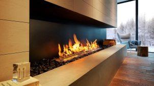 バイオエタノール暖炉に横長の炎を楽めるリフォーム向け新機種