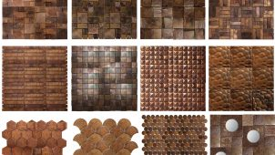 アンティーク調に光る「銅張りモザイクタイル」を発売