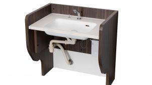 高齢者施設向け、求めやすい価格の昇降式洗面台を開発