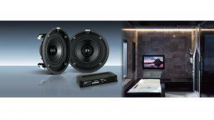 クラリオン、LIXILシステムバス向けのサウンドシステムに新色