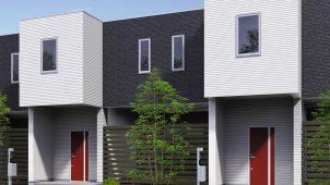 三協アルミ、12デザイン・13色から選べるアパートドアを発売