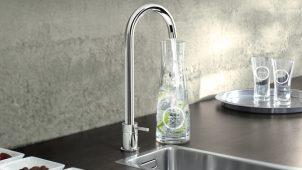 蛇口から新鮮な炭酸水が!?グローエが欧州で人気のキッチン水栓発売