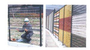1人で施工できる、色柄豊富な金網フェンスを発売