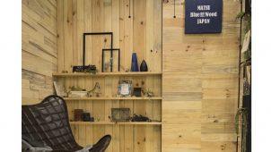 信州産アカマツの「アオ材」をデザインに活かす内装材シリーズ