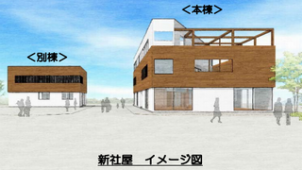 七呂建設、CLT使用した工法で新社屋
