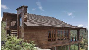 LIXIL、天然石付き鋼板屋根材「T・ルーフ」に木肌デザイン