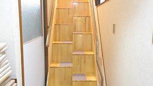 急な階段を3日で緩やかに改造する特許工法