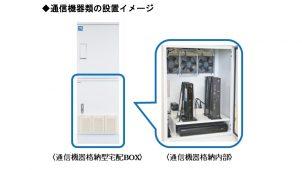 マンション向け、監視カメラレコーダやルータも格納できる宅配ボックス