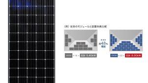 狭小屋根により多く積載できる単結晶太陽電池モジュールを発売