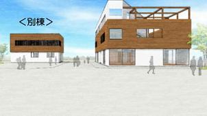 七呂建設、「CLT」採用の新社屋1棟目を竣工
