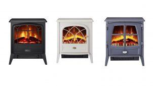 ディンプレックス、LEDでリアルな炎演出する電気暖炉3機種