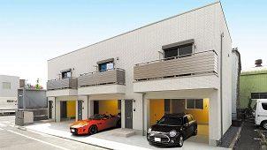 サンヨーホームズの賃貸ガレージハウス1棟目が東京・足立で竣工