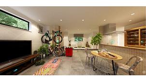 ジブンハウス、平屋住宅「DOMADOMA」で「土間」のある生活を提案