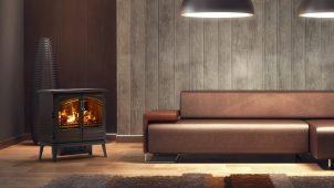 光と水蒸気でリアルな炎演出する、電気暖炉2機種追加