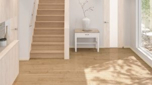 大建工業、シート床材と色柄合わせができる階段を発売