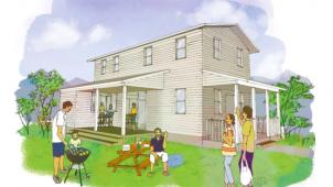 長谷萬、木の温もりあふれる規格型住宅「So-Cal House」発売