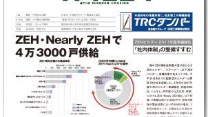 【新建ハウジングちょっと読み!】<br/>ZEH・Nearly ZEHで 4万3000戸供給/12月20日号